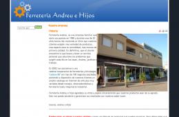 Web de Andreu e Hijos